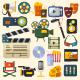 Cinema Icons Set - GraphicRiver Item for Sale