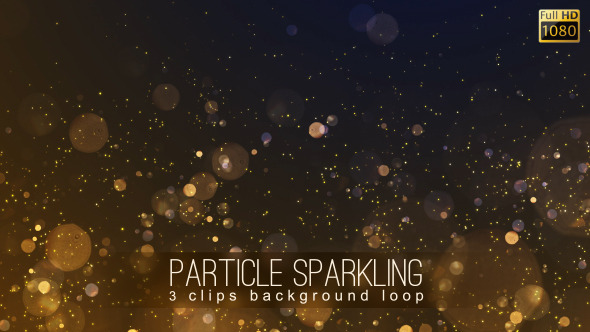 Particle Sparkling Background