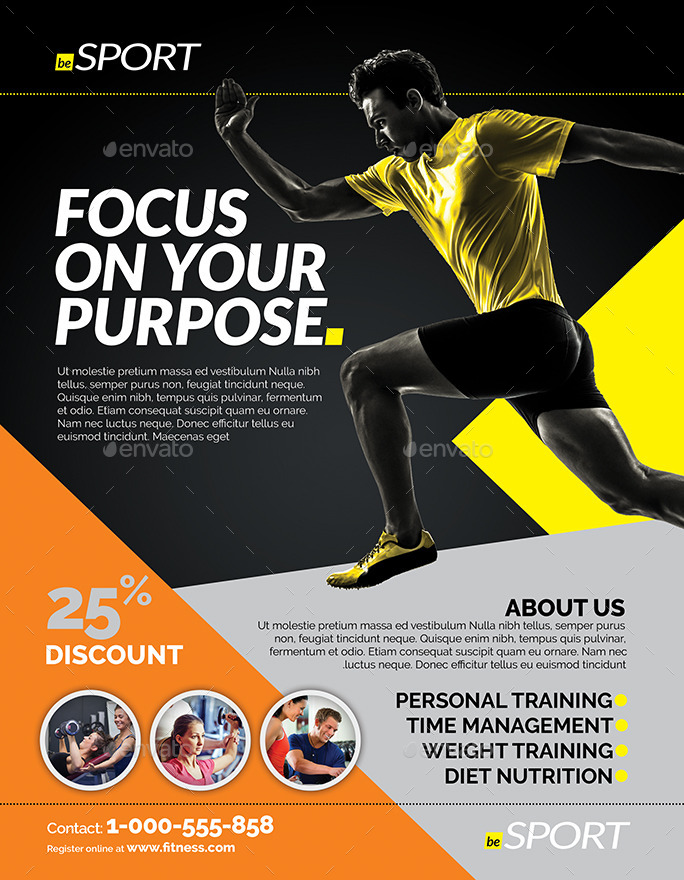 Fitness Flyer By Inddesigner | Graphicriver