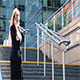 Business Woman Standing on The Stairs And Talking  - VideoHive Item for Sale