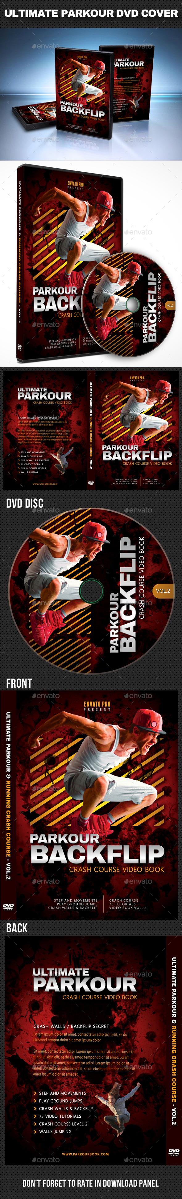 Ultimate Parkour DVD Cover Template V2 - CD & DVD Artwork Print Templates