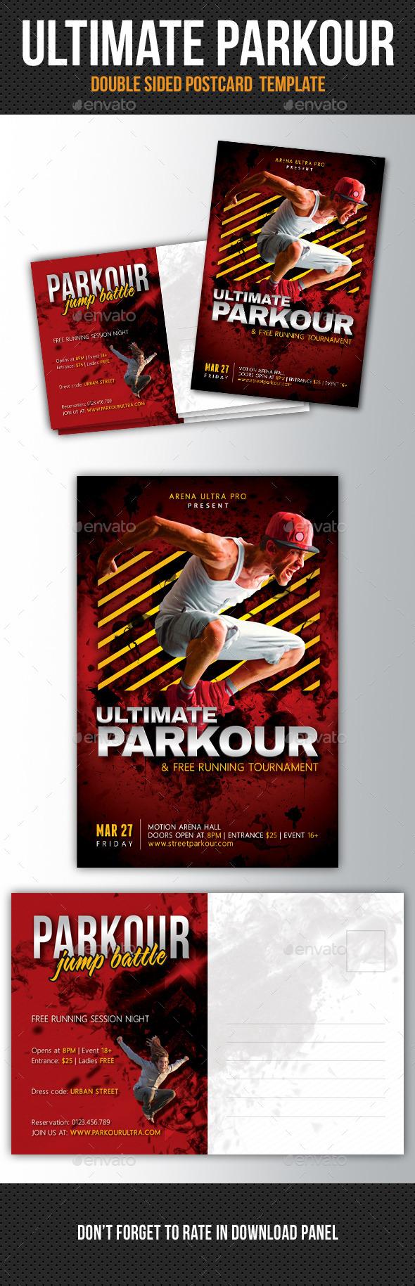 Ultimate Parkour Postcard V2 - Cards & Invites Print Templates
