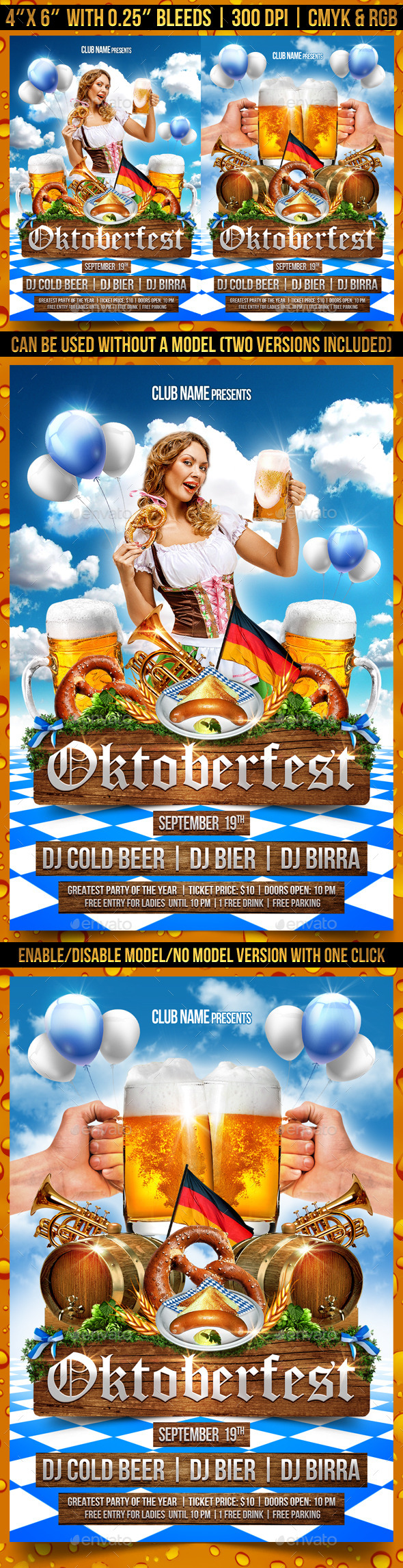 Oktoberfest Party Flyer Template - Clubs & Parties Events