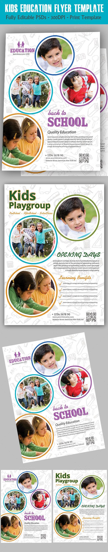 Kids Education Flyer - Flyers Print Templates