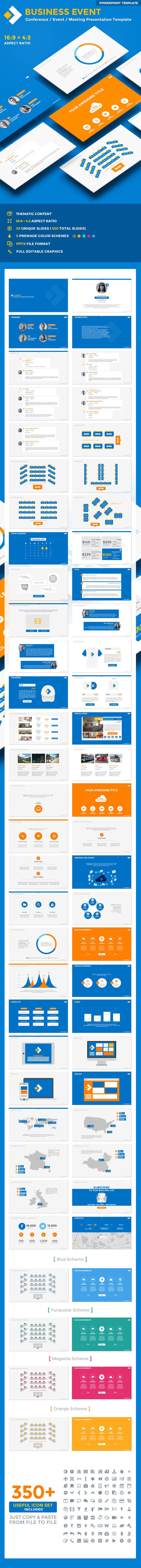 Business Event PowerPoint Presentation Template - Business PowerPoint Templates