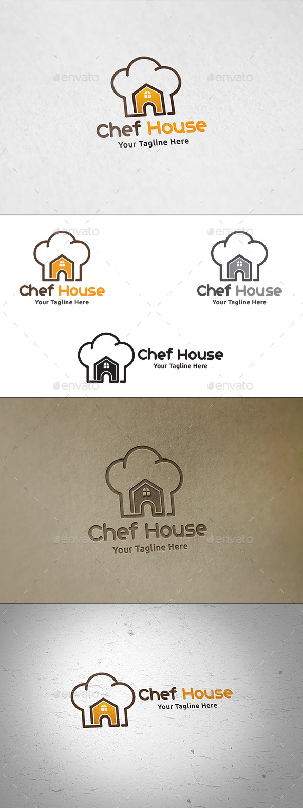 Chef House - Logo Template - Food Logo Templates
