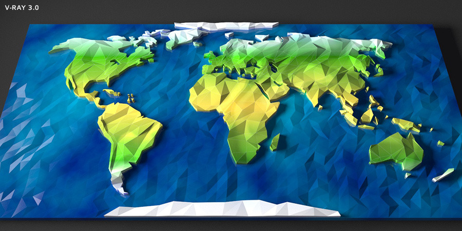 Low Poly World Map   3DOcean Item For Sale · Screenshots/screen_1 ...