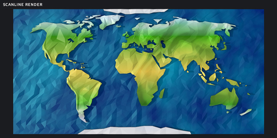 Low Poly World Map By Arakelov 3docean