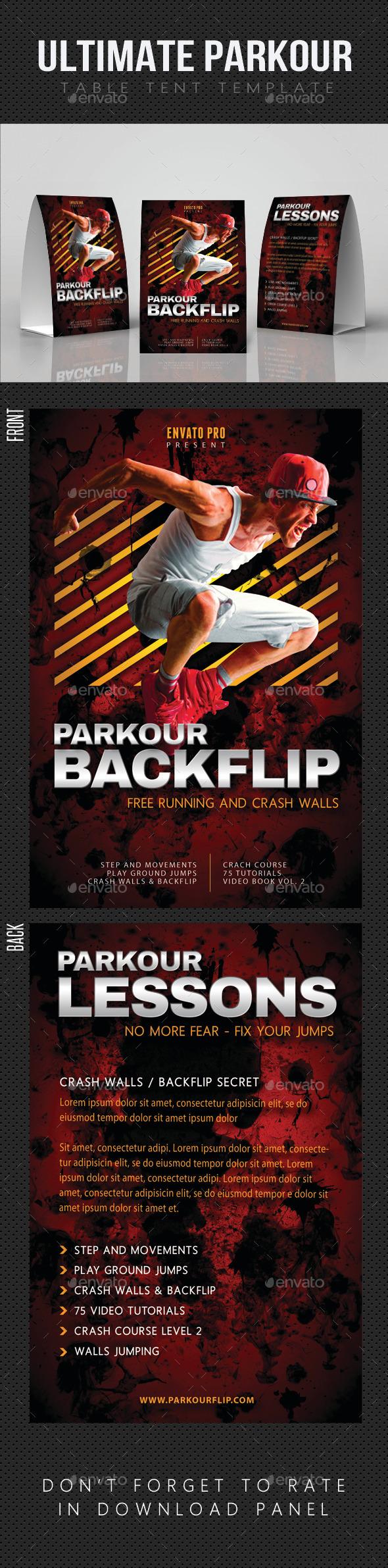 Ultimate Parkour Table Tent V2 - Miscellaneous Print Templates