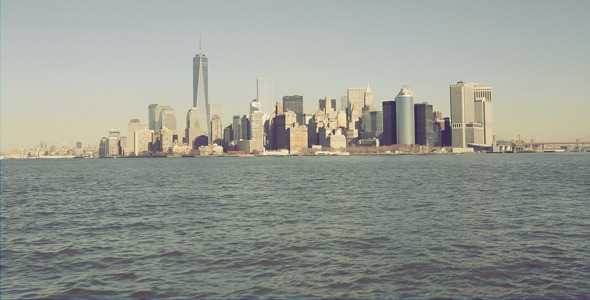 New York City Landscape From The River