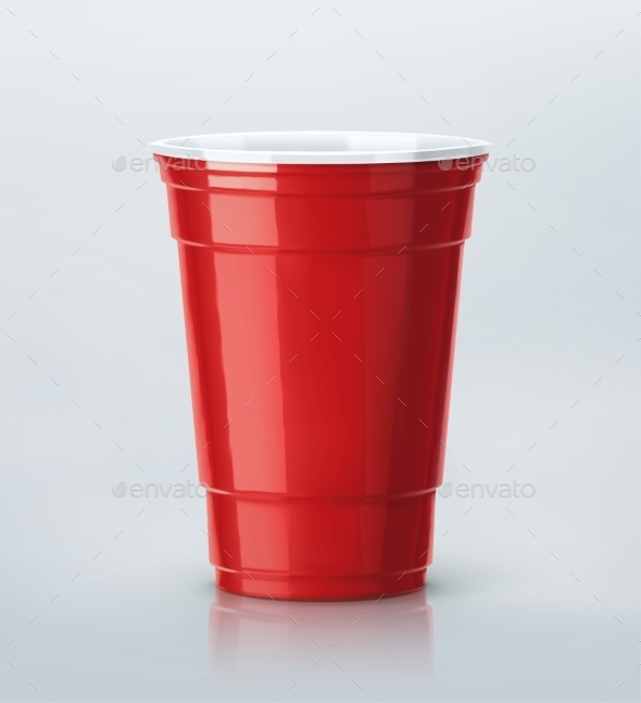 Red Party Cup - Man-made Objects Objects