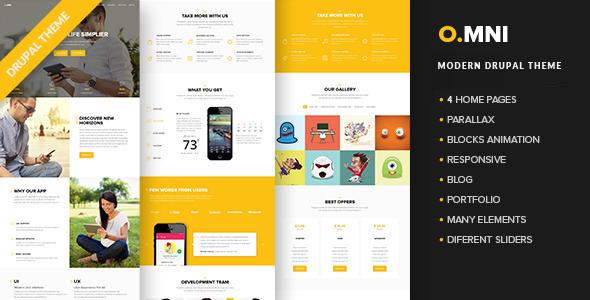Omni – Modern Drupal App Theme