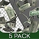 Banknotes Falling V2 - 5 Pack - VideoHive Item for Sale