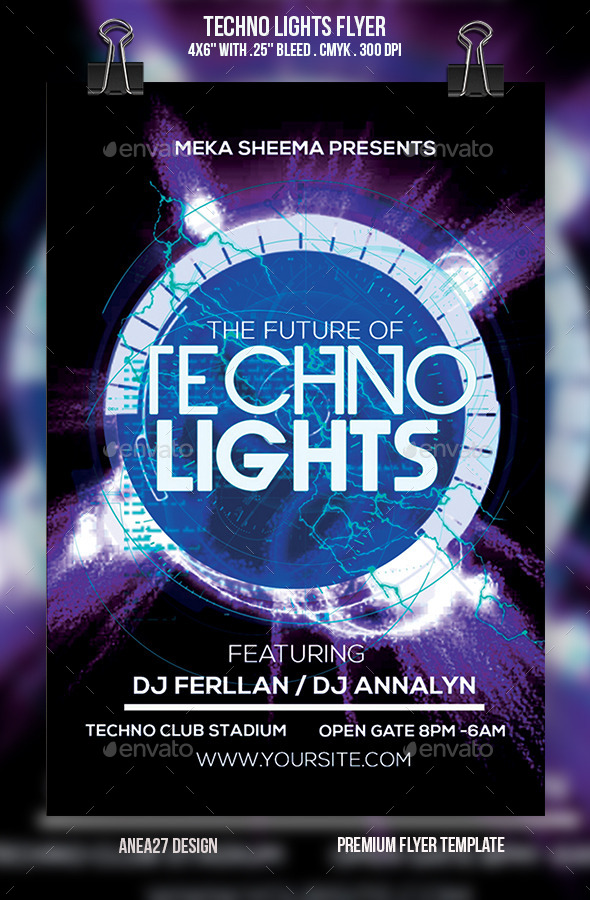 Techno Lights Flyer