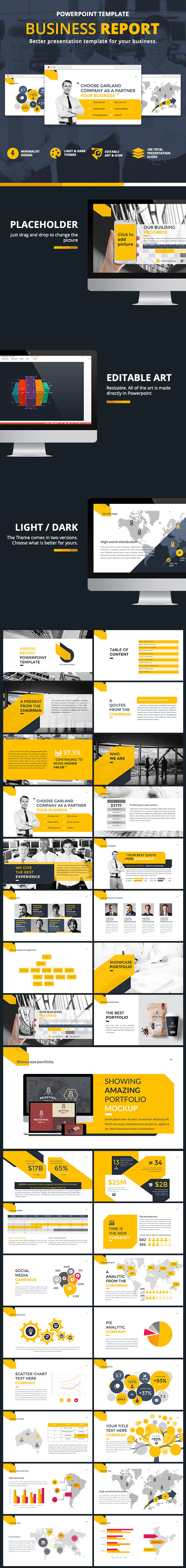 Business Report Presentation - Business PowerPoint Templates