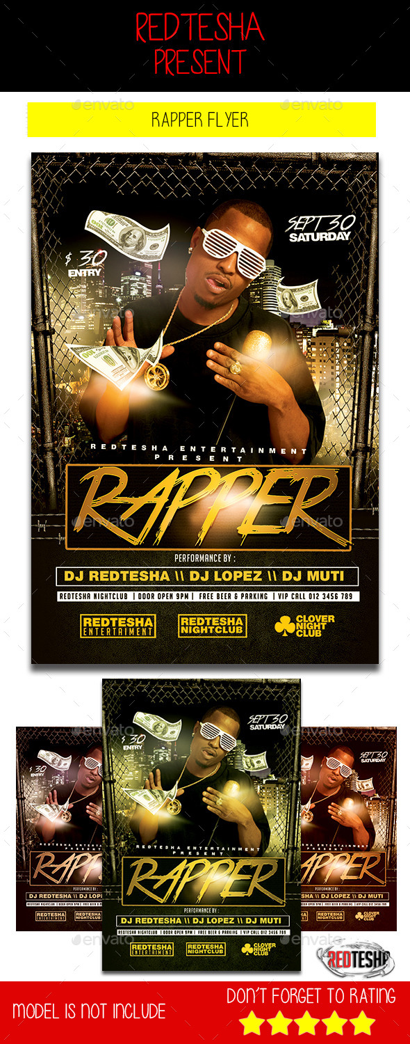 The Rapper Flyer - Clubs & Parties Events