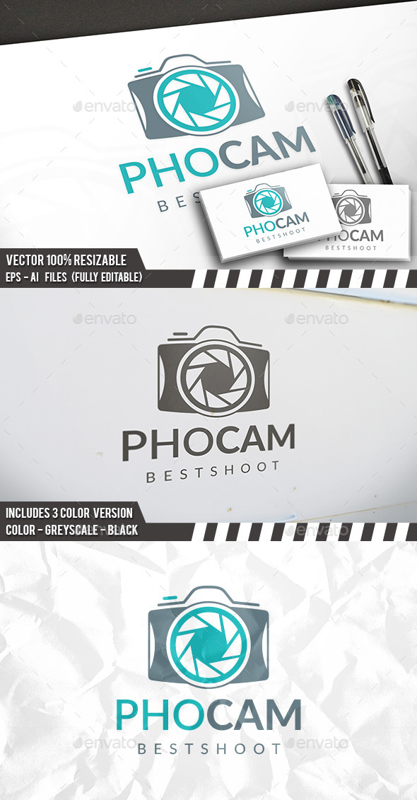 Photo Camera Logo - Objects Logo Templates