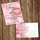 Simple Flower Wedding Invitation & Post Card  - GraphicRiver Item for Sale