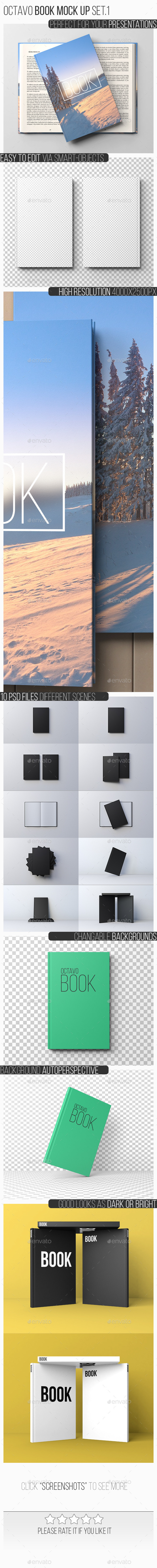 Octavo Book Mock-Up Set.1 - Books Print