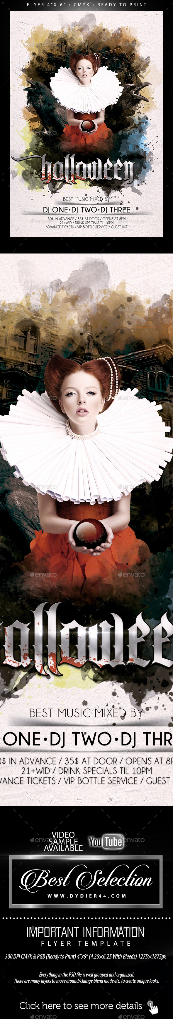 Halloween (Flyer Template 4x6) - Events Flyers