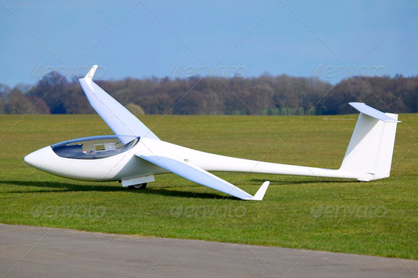 White Plane - Stock Photo - Images