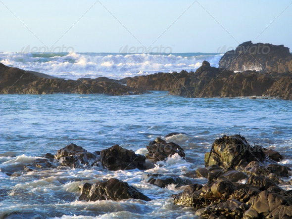 Waves and rocks - Stock Photo - Images
