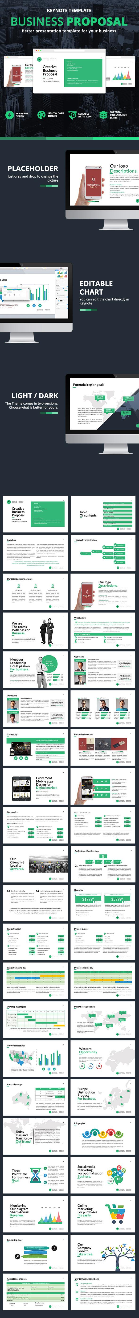 Business Proposal Keynote - Business Keynote Templates