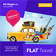 Flat Travel banner - GraphicRiver Item for Sale