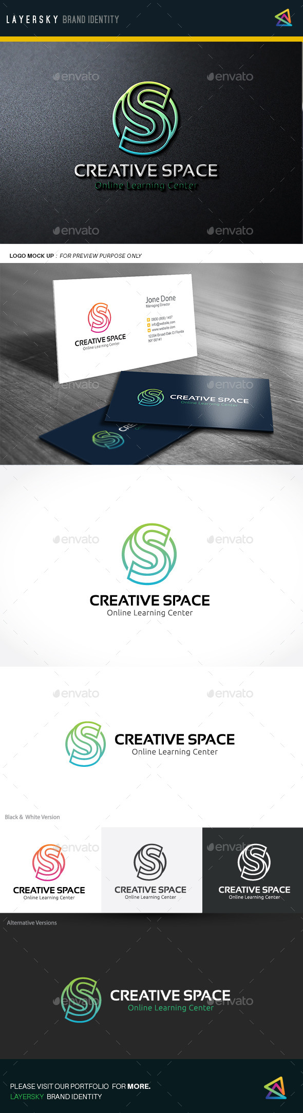Creative Space - Letters Logo Templates