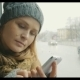 Woman Texting On Cell Phone During Bus Ride In - VideoHive Item for Sale