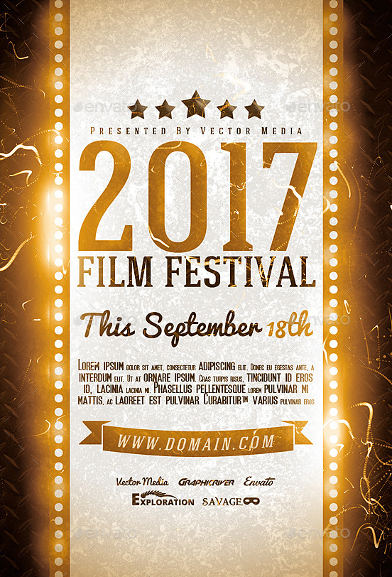 film festival flyers - Film Festival Brochure Template