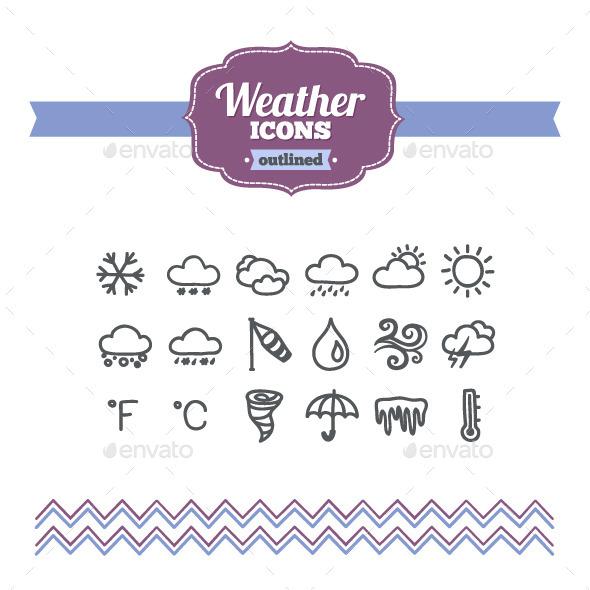 Hand Drawn Weather Icons - Seasonal Icons