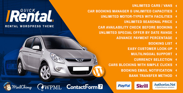 CarRental – Car Rental WordPress Theme