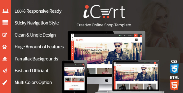 iCart – eCommerece HTML5 Responsive Shop & Store