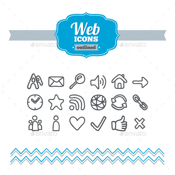 Hand Drawn Web Icons - Web Icons