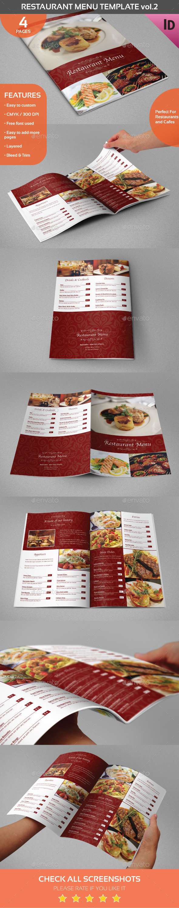 Restaurant Menu Template vol.2 - Food Menus Print Templates