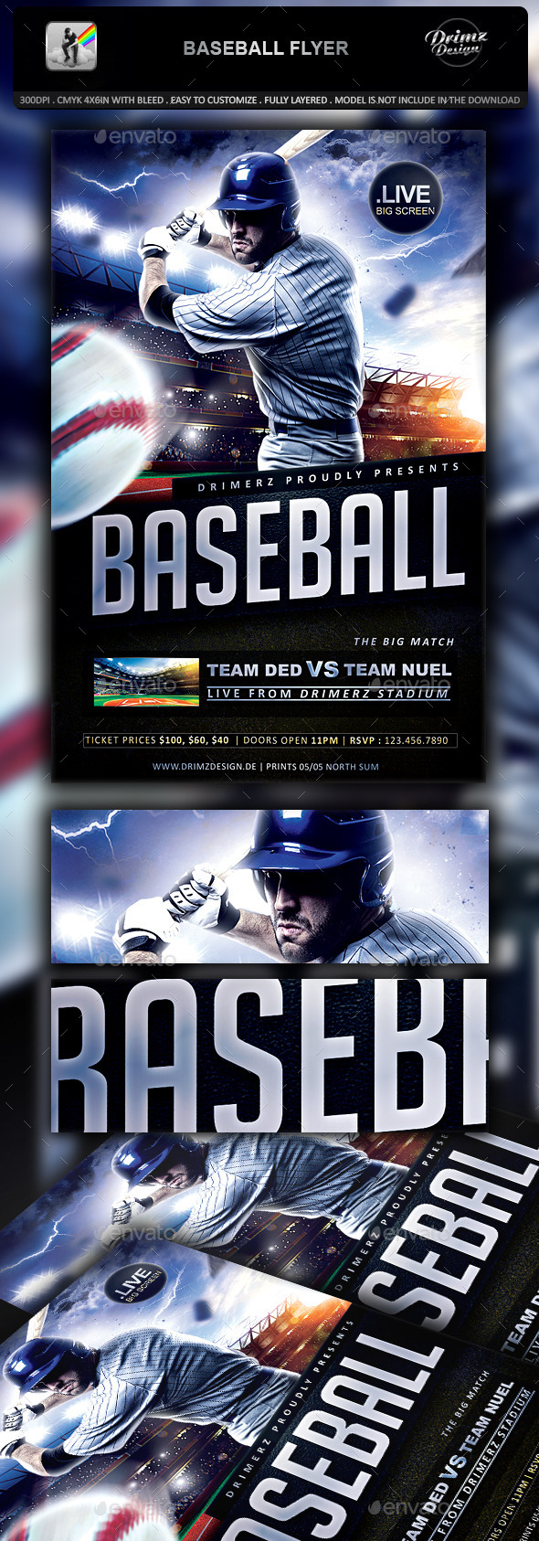 Baseball Flyer - Sports Events