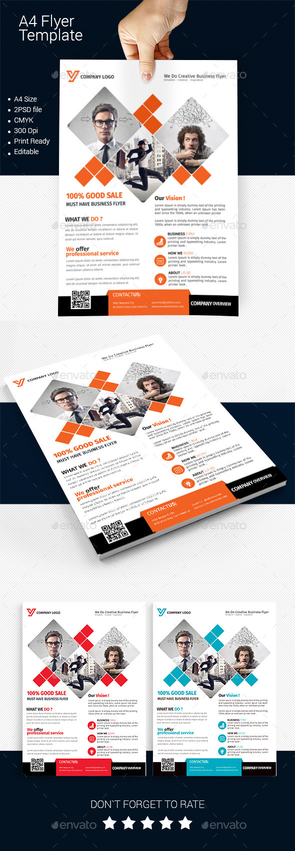 A4 Business Flyer Template 03 - Corporate Flyers