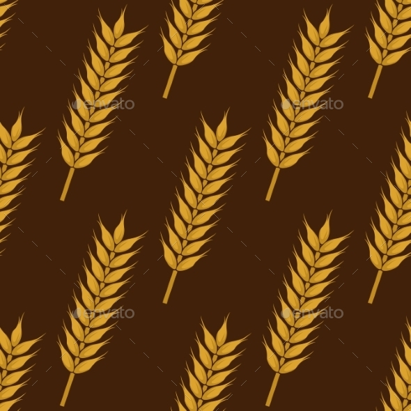 Ears Of Ripe Wheat Seamless Pattern - Backgrounds Decorative