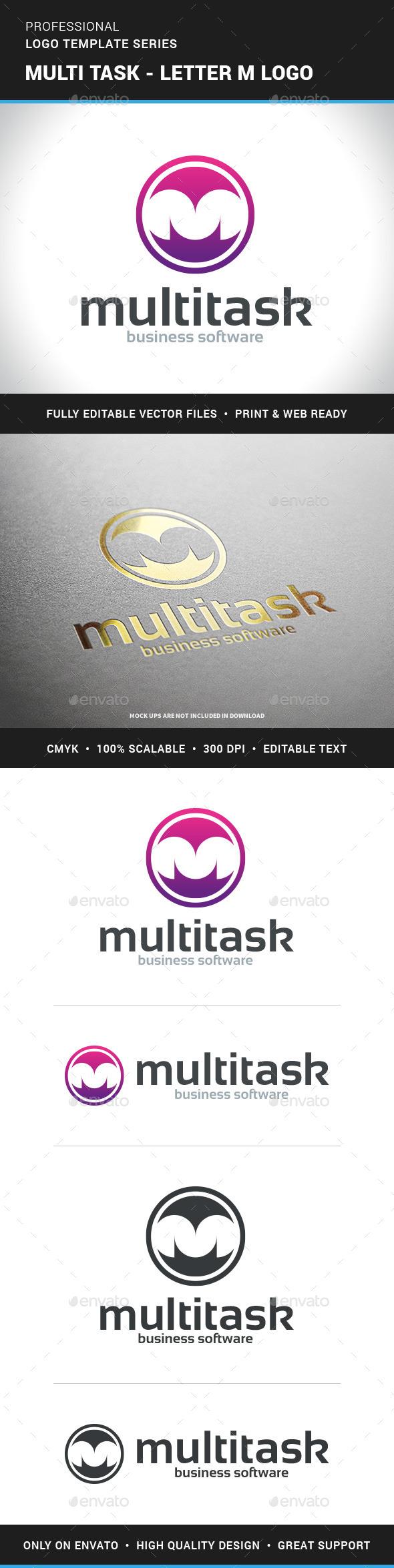 Multitask - Letter M Logo - Letters Logo Templates