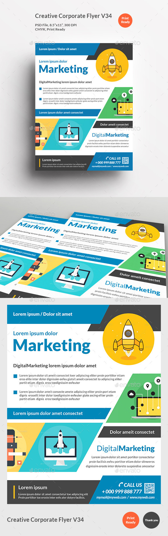 Creative Corporate Flyer V34 - Corporate Flyers