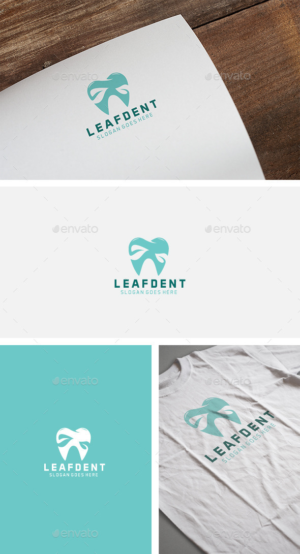 Leaf Bleu Dent Logo - Humans Logo Templates