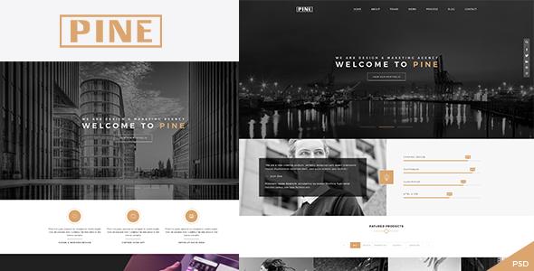 Pine – Creative Onepage PSD Template