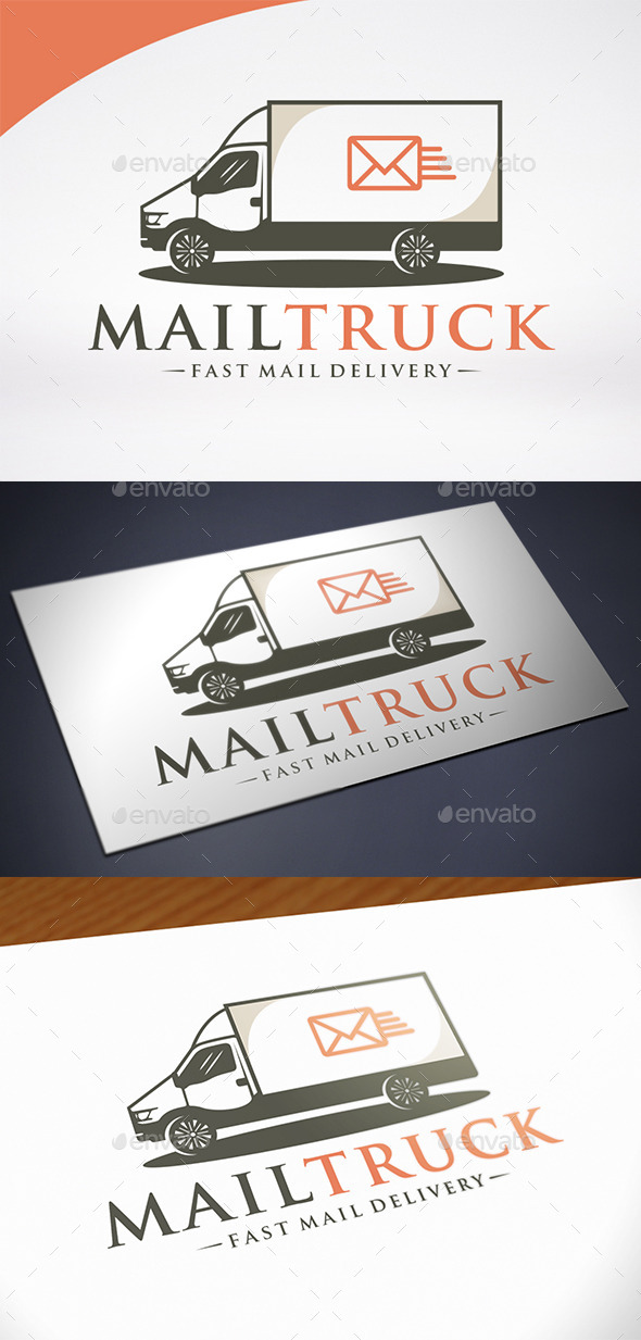 Mail Truck Logo Template - Objects Logo Templates