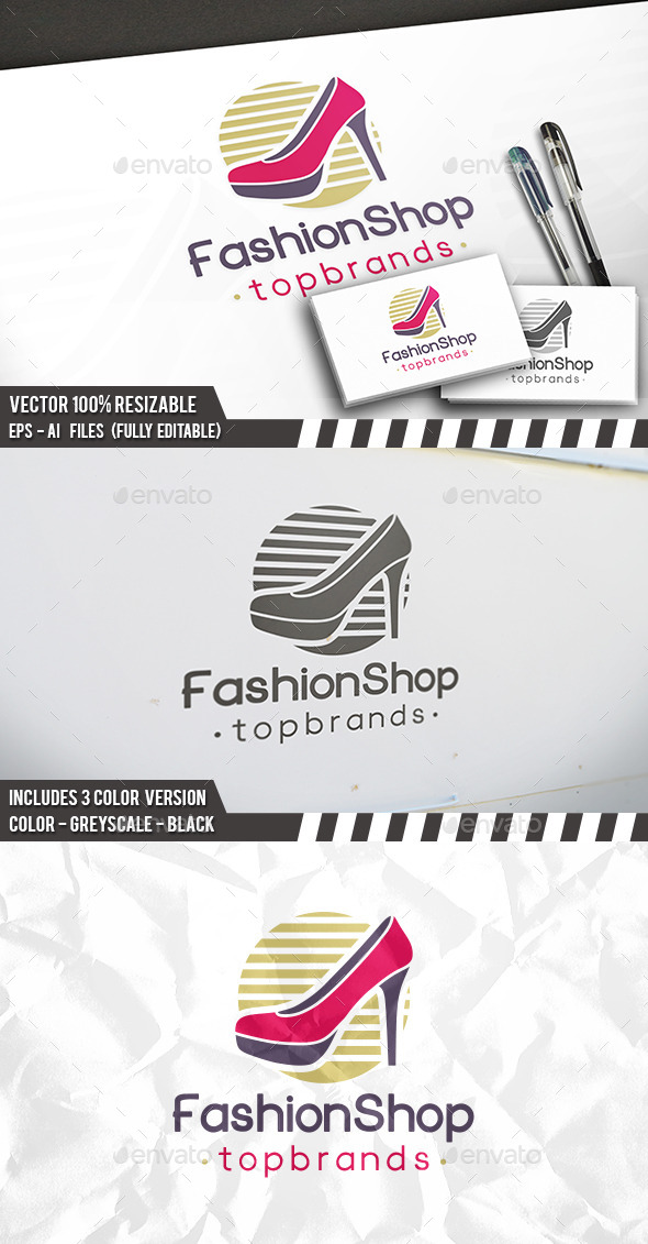 Fashion Shop Logo - Objects Logo Templates
