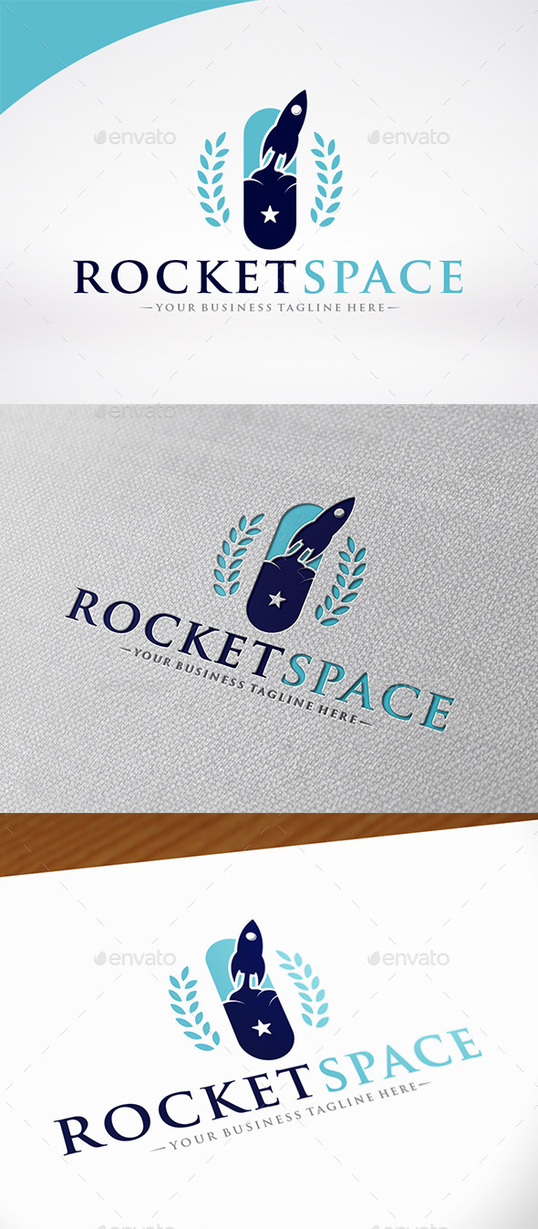 Rocket Space Logo Template