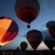 Hot Air Balloons Glows In The Dark Sky - VideoHive Item for Sale