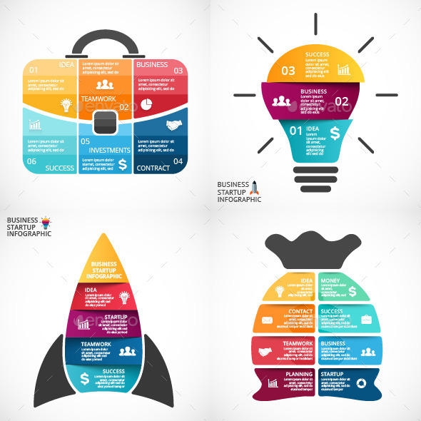 Startup Business Project Infographics - Infographics