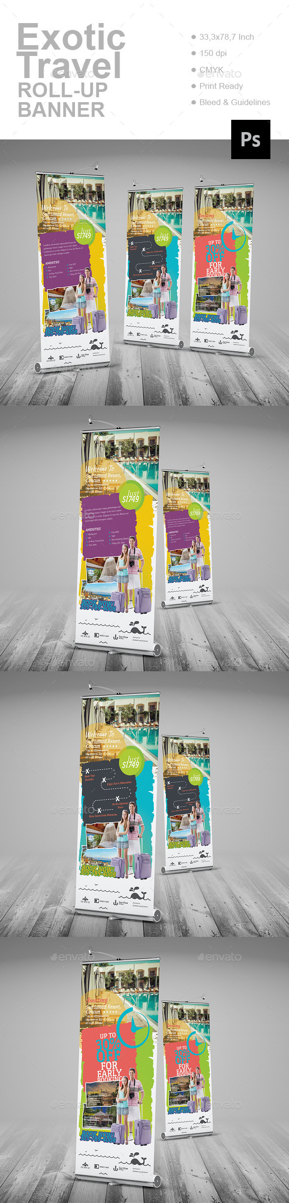 Exotic Travel Roll-Up Banner