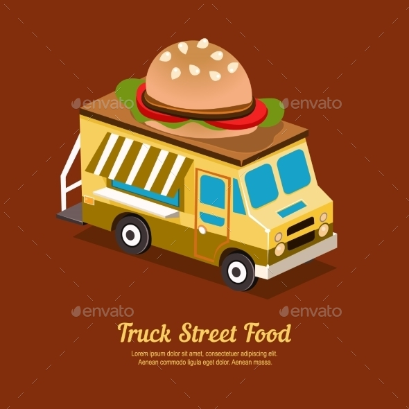 Mobile Food Van - Objects Vectors